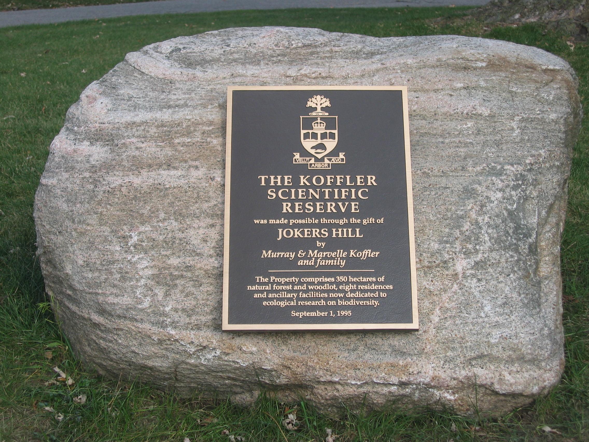 Donation plaque